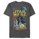 Star Wars Men's Galactic Battle  T Shirt Charcoal Heather 2XL