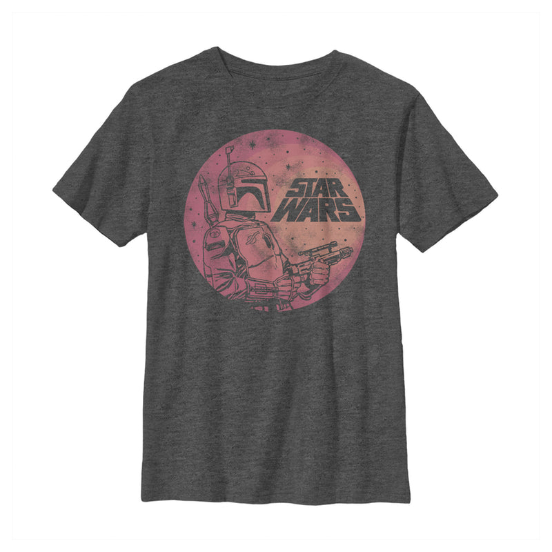 Star Wars Boba Fett Retro Circle Boys Graphic T Shirt