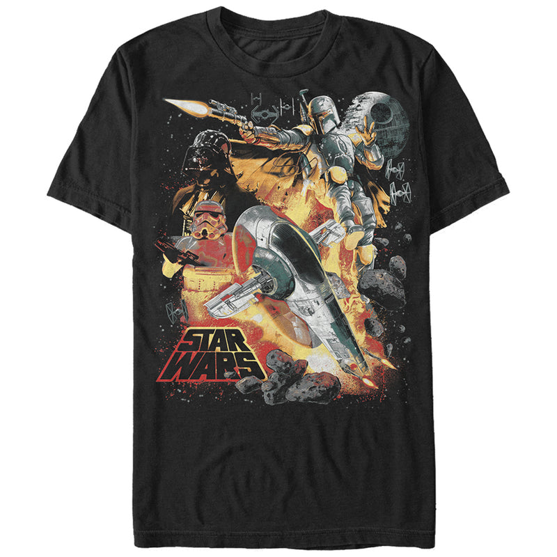 Star Wars Empire Space Montage Mens Graphic T Shirt