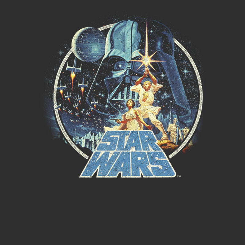 Star Wars Men's Classic Scene Circle  T-Shirt
