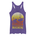 Lion King Women's Hakuna Matata Profile  Racerback Tank Top  Purple Heather  S