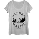 Lion King Women's Hakuna Matata Means No Worries  Scoop Neck  Athletic Heather  S