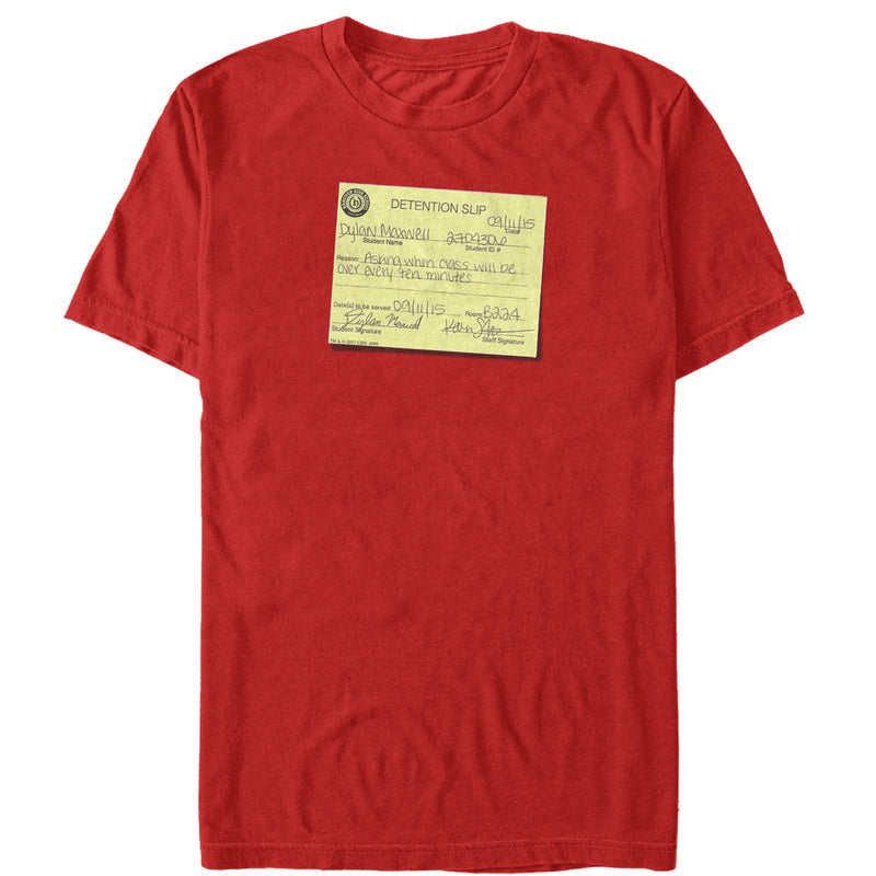 American Vandal Dylan Detention Slip Mens Graphic T Shirt