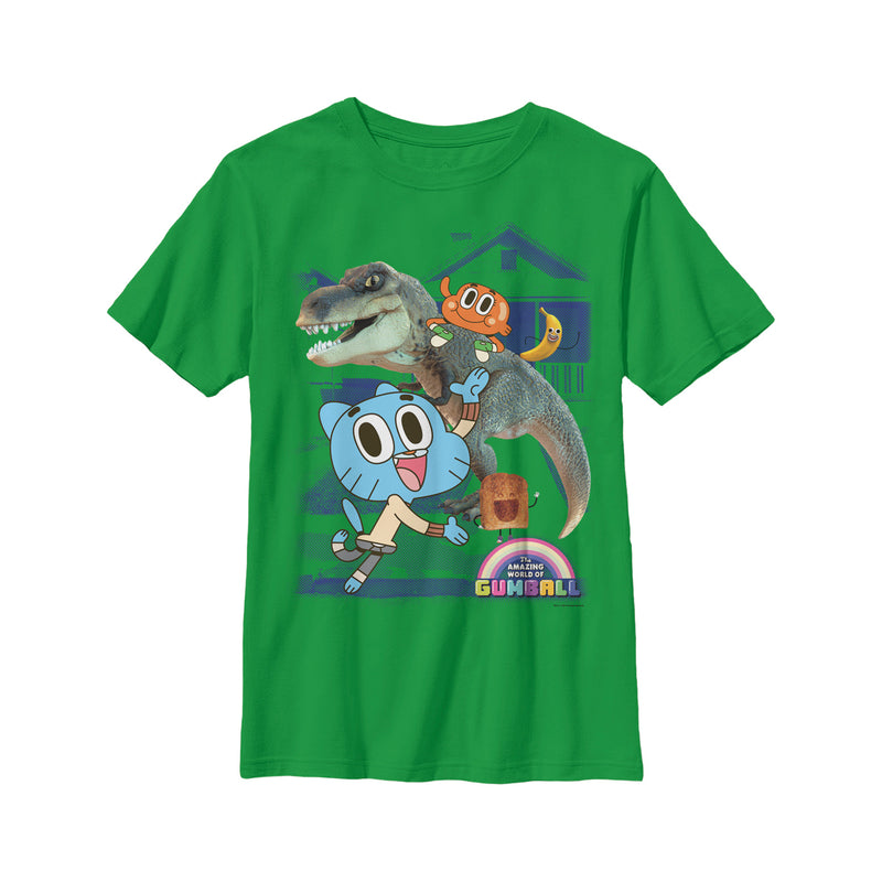 The Amazing World of Gumball Boy's School Pals  T-Shirt  Kelly Green  M