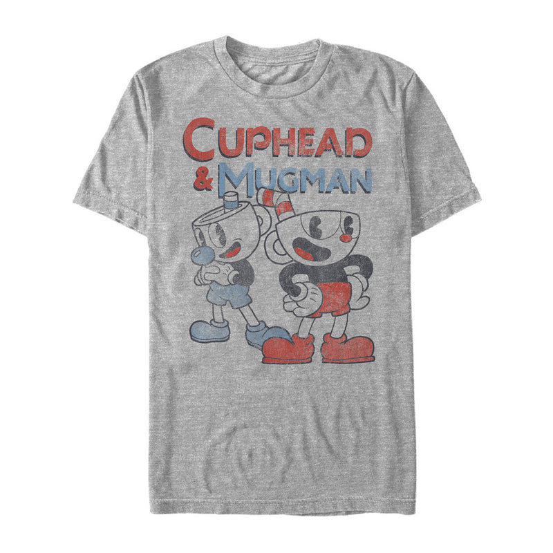 Cuphead Best Friend Mugman Mens Graphic T Shirt