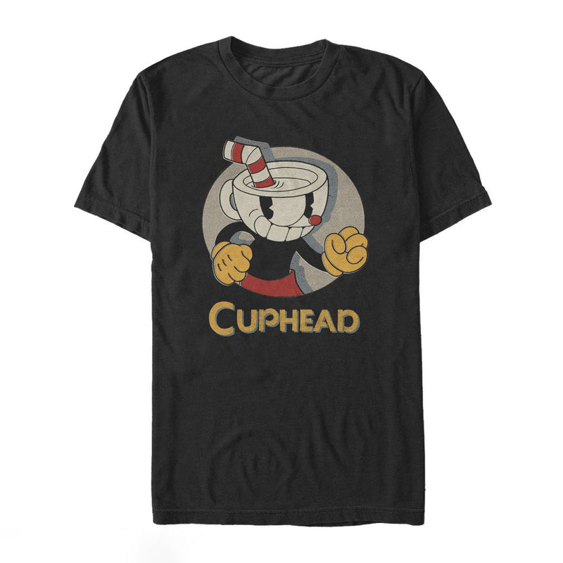 Cuphead Logo Portrait Circle Mens Graphic T Shirt