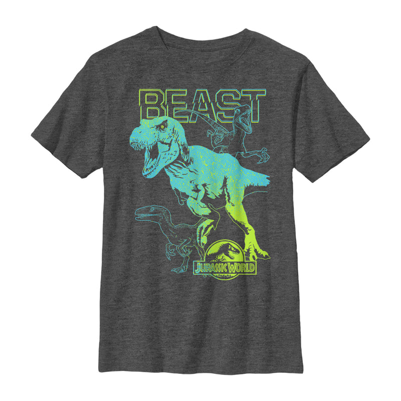 Jurassic World Ombre Shade Beast Boys Graphic T Shirt