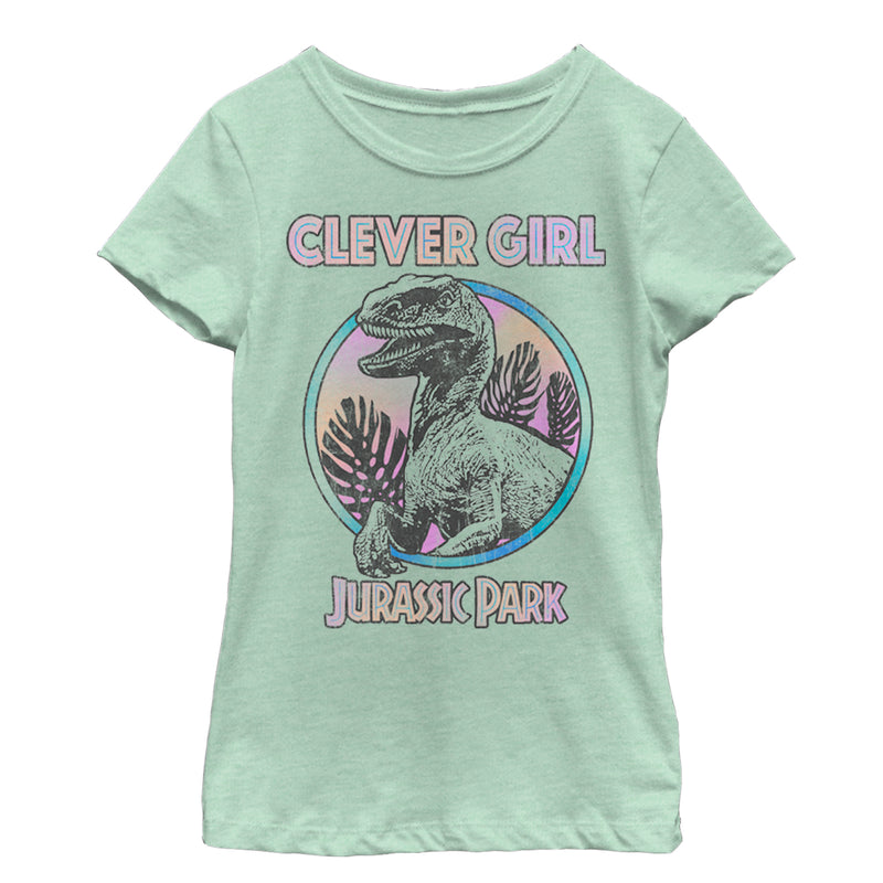 Jurassic World Retro Clever Girl Girls Graphic T Shirt