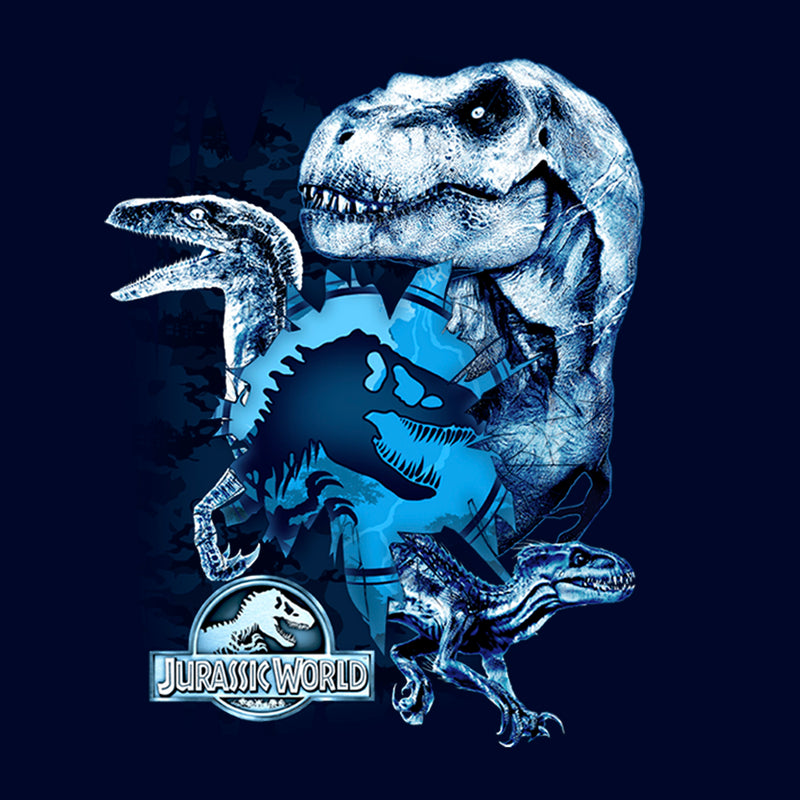 Jurassic World: Fallen Kingdom Men's Dinosaur Frost  Pull Over Hoodie