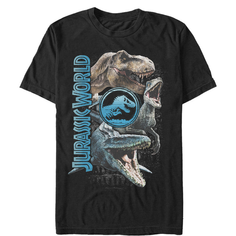 Jurassic World: Fallen Kingdom Jurassic World Fallen Kingdom Dinosaur Montage Mens Graphic T Shirt