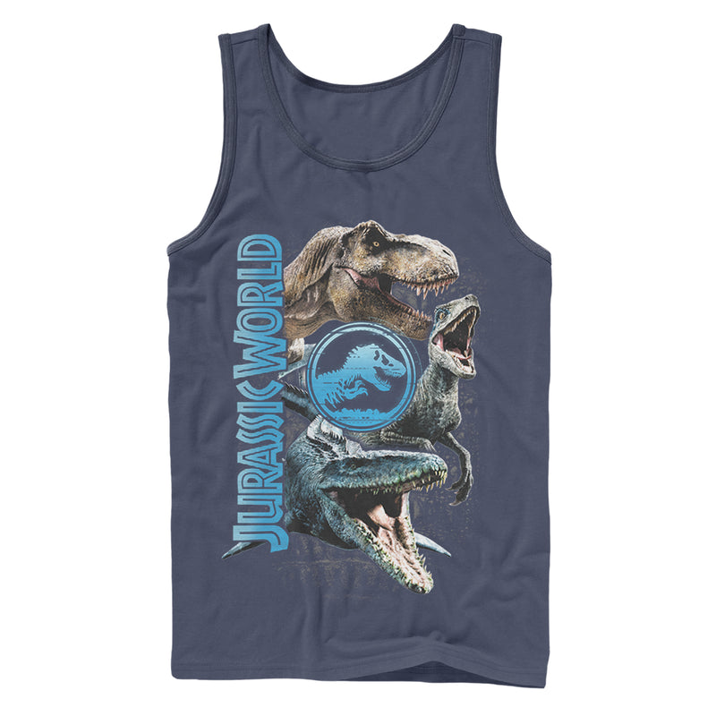 Jurassic World: Fallen Kingdom Jurassic World Fallen Kingdom Dinosaur Montage Mens Graphic Tank Top
