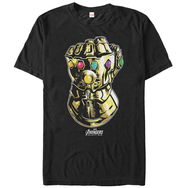 Marvel Men's Avengers: Avengers: Infinity War Gauntlet  T-Shirt  Black  S