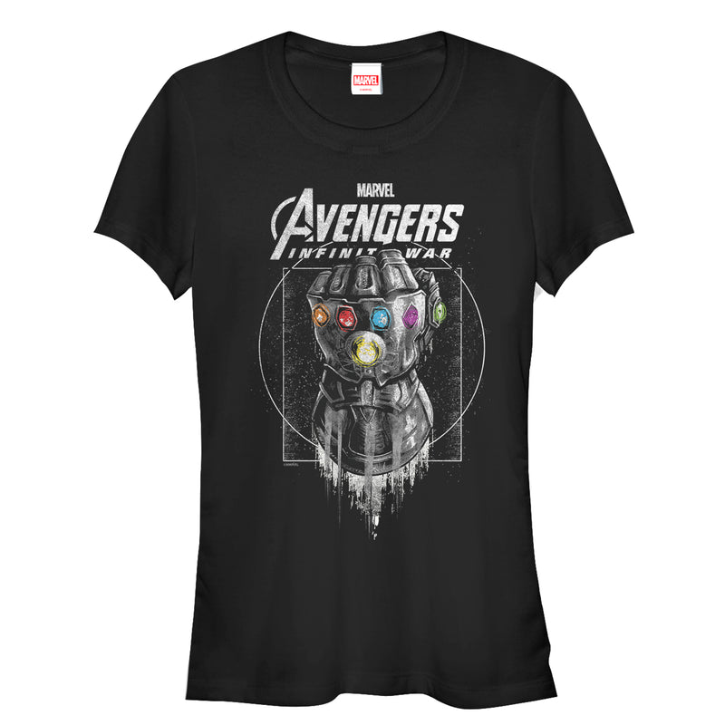 Marvel Junior's Avengers: Avengers: Infinity War Gauntlet Drip  T-Shirt