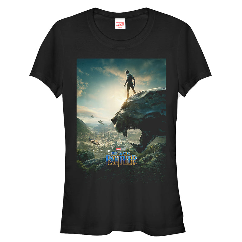Marvel Junior's Black Panther 2018 Epic View  T-Shirt  Black  L