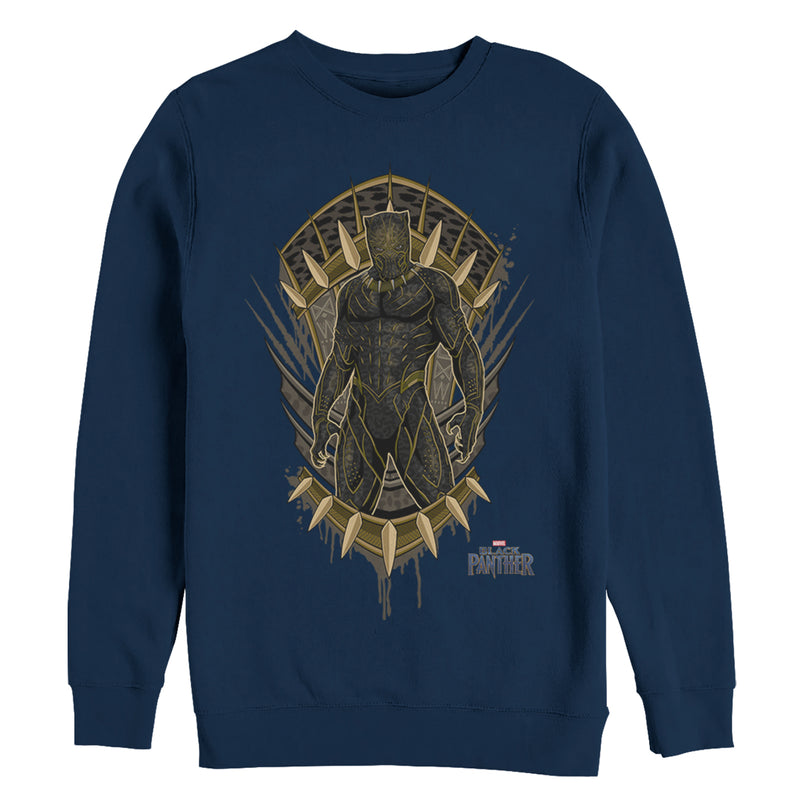Marvel Men's Black Panther 2018 Claw Crest  Sweatshirt  Navy Blue  M