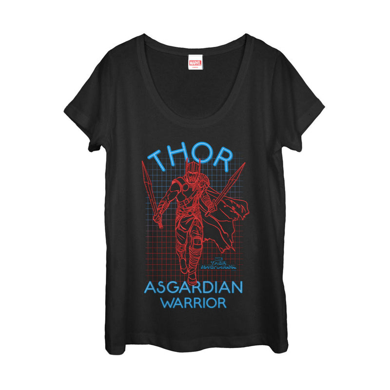 Marvel Thor: Ragnarok 3D Dimension Womens Graphic Scoop Neck