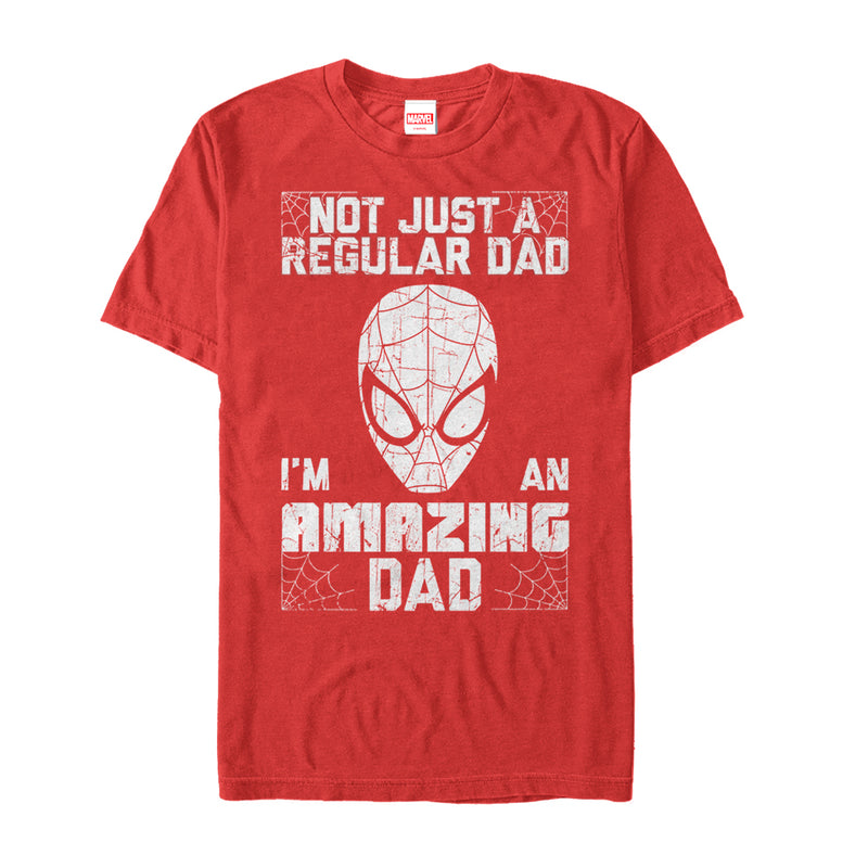 Marvel Father's Day Spider-Man Not Regular Dad Mens Graphic T Shirt