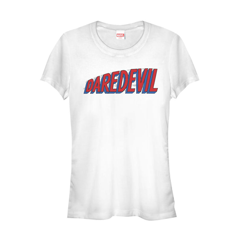 Marvel Junior's Daredevil Hero Logo  T-Shirt  White  M