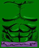 Marvel Men's Halloween Hulk Classic Costume  T-Shirt  Kelly Green