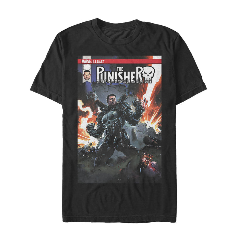 Marvel Legacy Punisher Battle Mens Graphic T Shirt