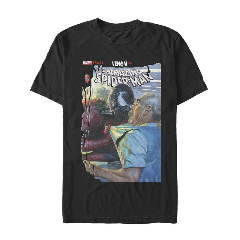 Marvel Men's Legacy Spider-Man vs Venom  T-Shirt  Black  5XL