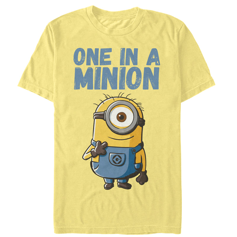 Despicable Me Men's Cute One in a Minion  T-Shirt