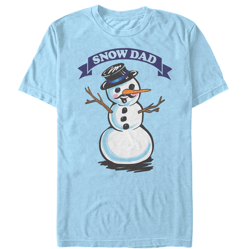 Lost Gods Christmas Snowman Dad Mens Graphic T Shirt