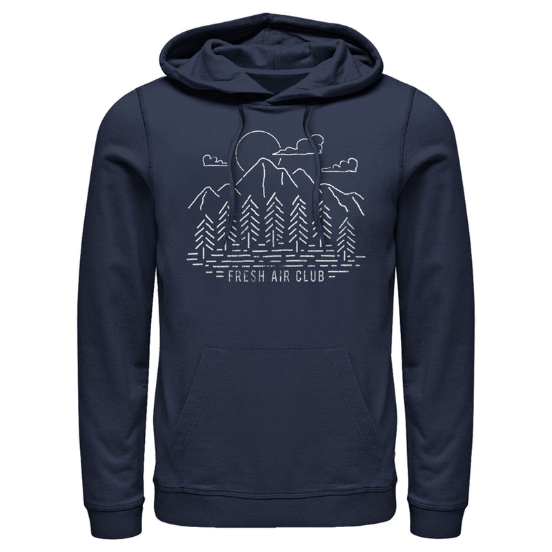 Lost Gods Fresh Air Club View Mens Graphic Lightweight Hoodie