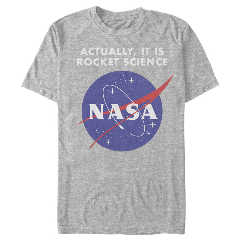 NASA Rocket Science Logo Mens Graphic T Shirt