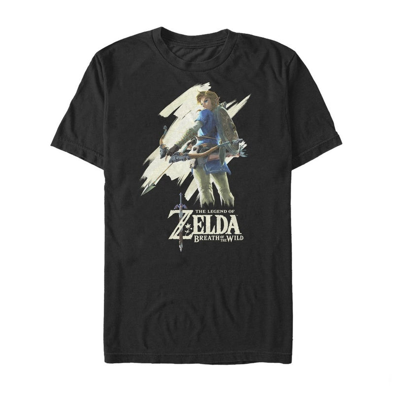 Nintendo Men's Legend of Zelda Breath of the Wild Streak  T-Shirt  Black  XL