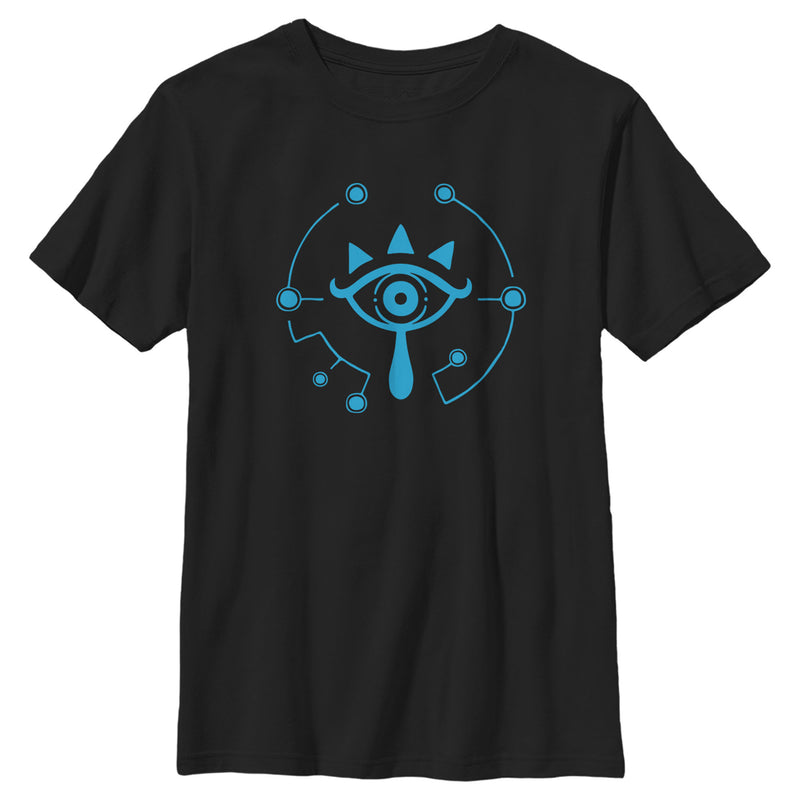 Nintendo Boy's Zelda Breath of the Wild Eye  T-Shirt  Black  XL
