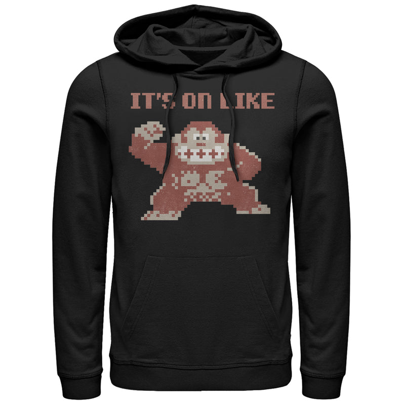 Nintendo It's on Like Donkey Kong Mens Graphic Lightweight Hoodie