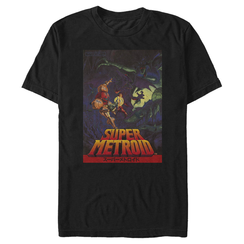 Nintendo Super Metroid Japanese Cover Art Mens Graphic T Shirt
