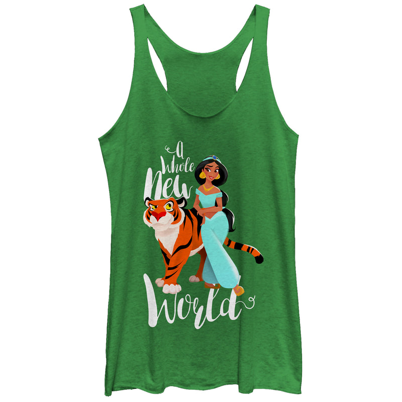 Aladdin Whole New World Womens Graphic Racerback Tank