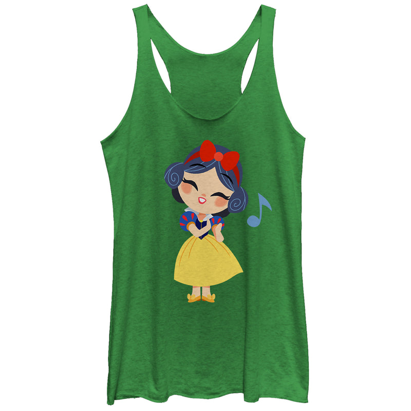 Snow White and the Seven Dwarves Women's Cartoon Song  Racerback Tank Top