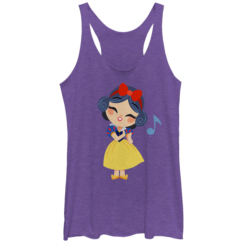 Snow White and the Seven Dwarves Women's Cartoon Song  Racerback Tank Top  Purple Heather  S