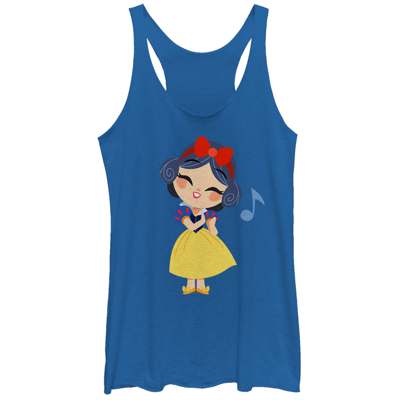 Snow White and the Seven Dwarves Women's Cartoon Song  Racerback Tank Top  Royal Blue Heather  XS