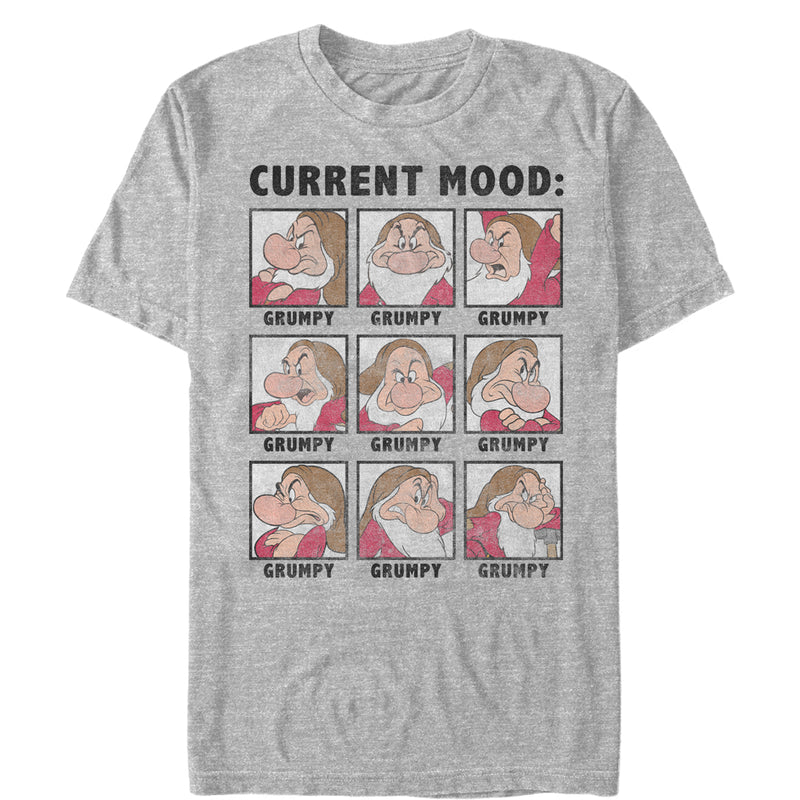Snow White and the Seven Dwarves Men's Grumpy Current Mood  T-Shirt