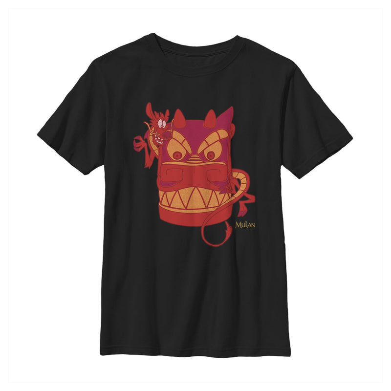 Mulan Mushu Dragon Mask Boys Graphic T Shirt