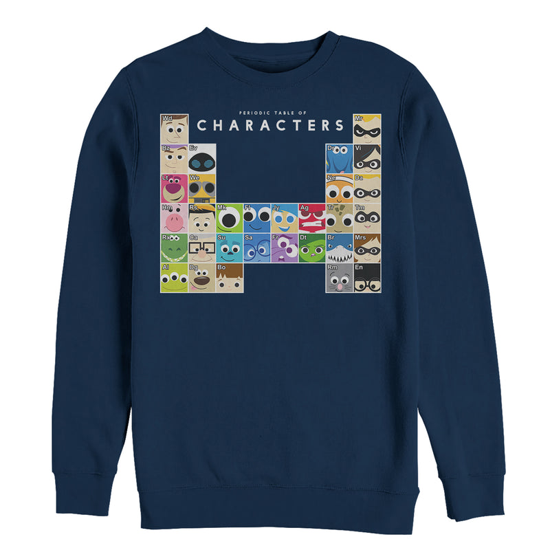 Pixar Character Men's Periodic Table  Sweatshirt  Navy Blue  S