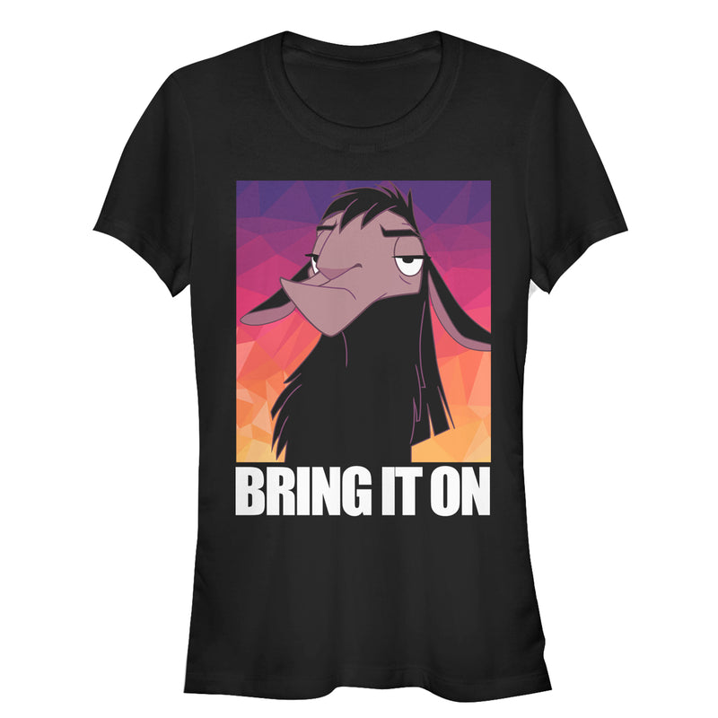 The Emperor's New Groove Junior's Kuzco Bring It On  T-Shirt  Black  XL