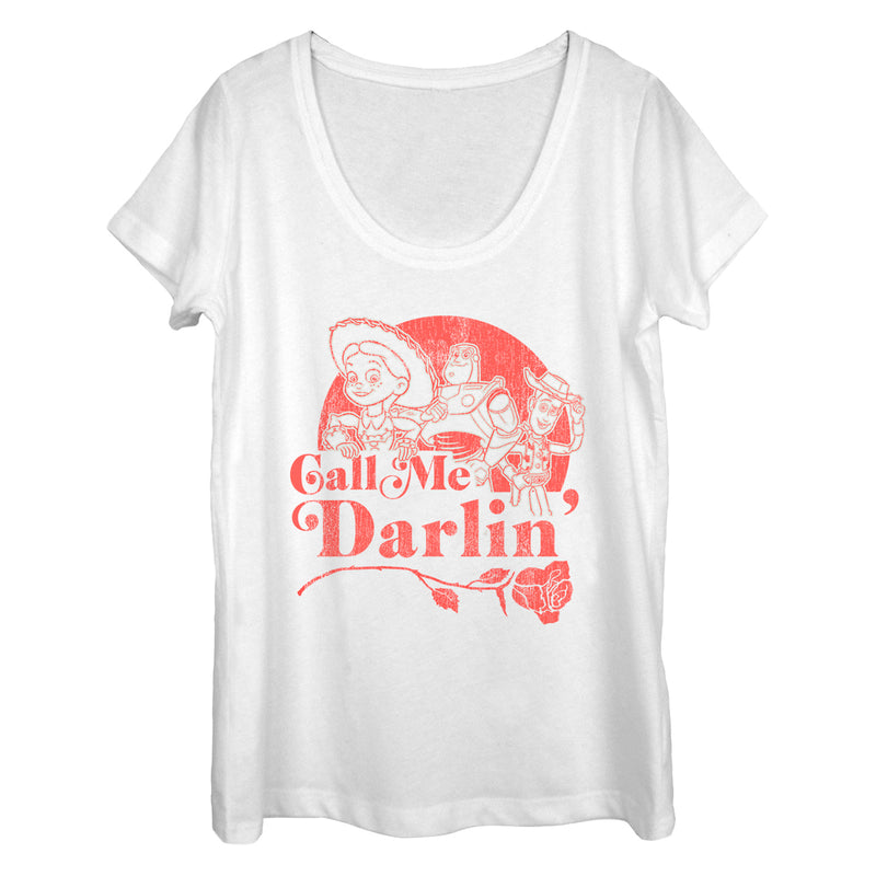 Toy Story Jessie Call Me Darling Womens Graphic Scoop Neck