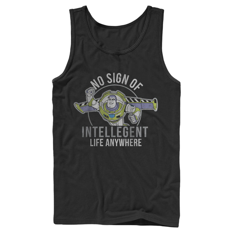 Toy Story Men's Buzz No Sign Of Intelligent Life  Tank Top