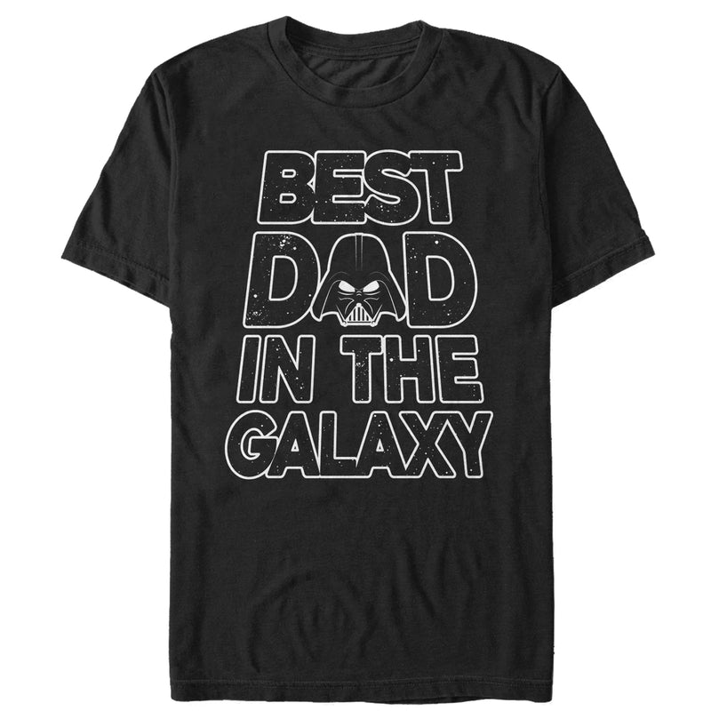 Star Wars Men's Father's Day Best Dad Darth Vader Helmet  T-Shirt  Black  2XL