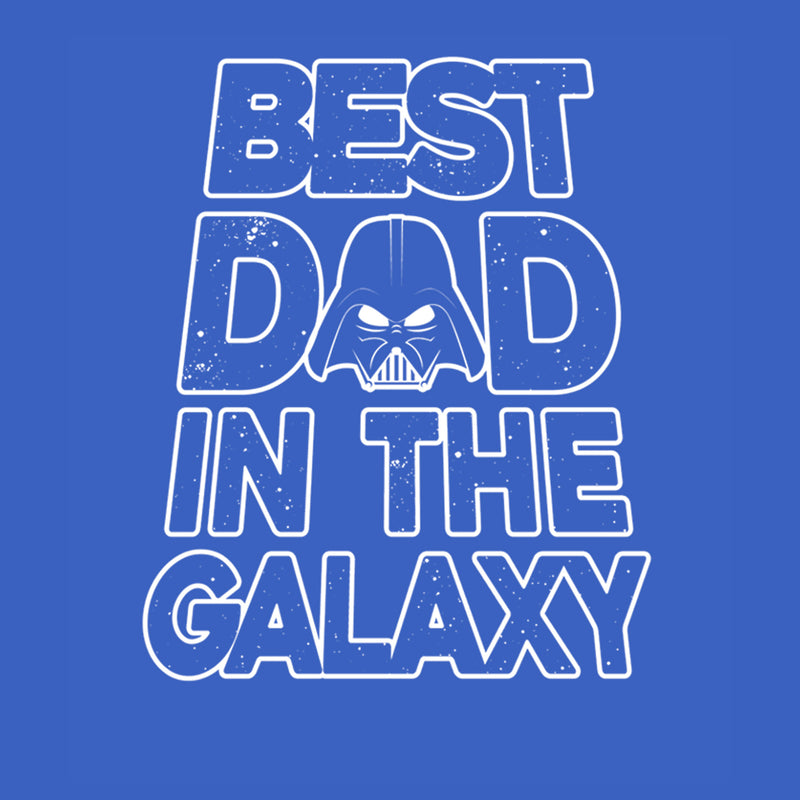Star Wars Men's Father's Day Best Dad Darth Vader Helmet  T-Shirt