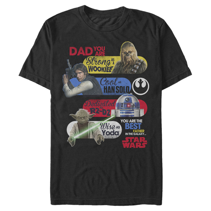 Star Wars Men's Best Father Qualities  T-Shirt  Black  M