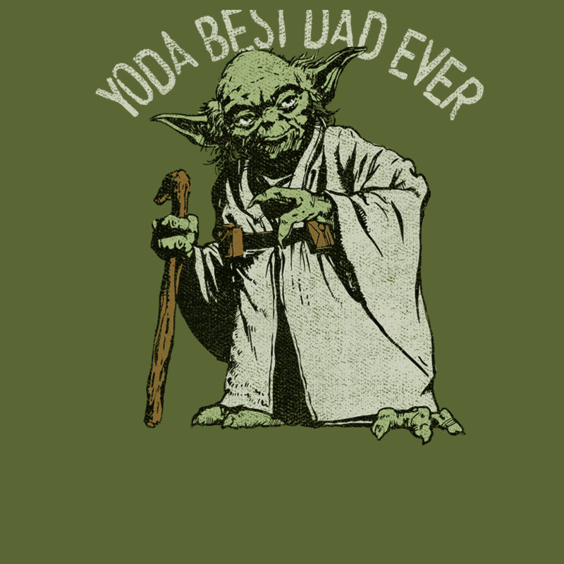 Star Wars Men's Yoda Best Dad Ever  T-Shirt  Military Green