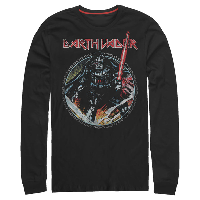 Star Wars Vader Up In Chains Mens Graphic Long Sleeve Shirt