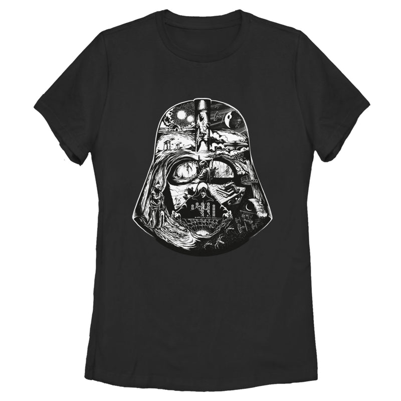 Star Wars Darth Vader's Journey Womens Graphic T Shirt