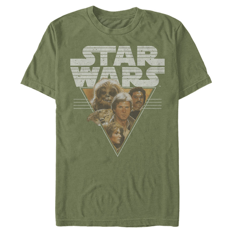 Star Wars Men's Frenemy Triangle  T-Shirt  Military Green  S
